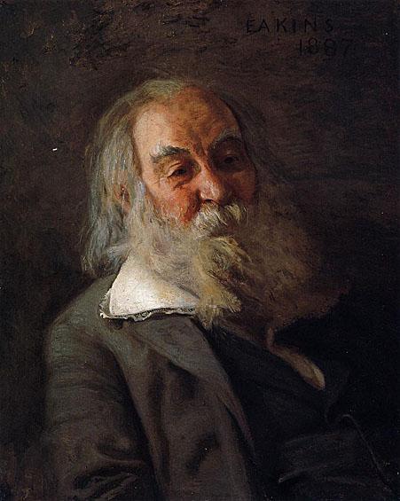 "Fig.2. Eakins, Thomas. """"Portrait of Whitman."" 1889. The Pennsylvania Academy of Fine Arts."